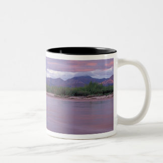 midnight sun over the MacKenzie River, off the Two-Tone Coffee Mug