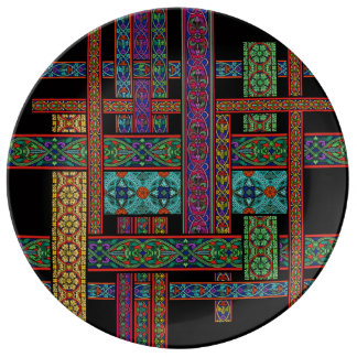Midnight Sun Stained Glass Porcelain Plate