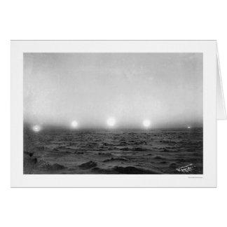 Midnight Sun Time Lapse 1911 Greeting Card