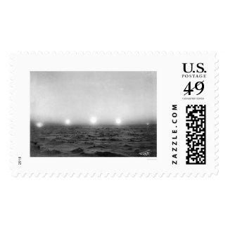 Midnight Sun Time Lapse 1911 Stamp