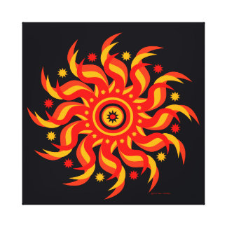 """Midnight Sun"" Wrapped Canvas Print"