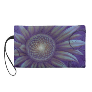 Midnight sunflower wristlet