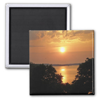 Midnight Sunset 2 Inch Square Magnet