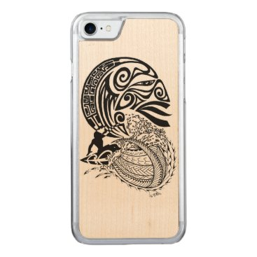 pacificstain Midnight Surf Carved iPhone 7 Case