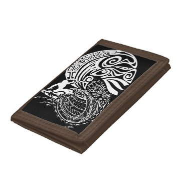 Beach Themed Midnight Surf Trifold Wallets