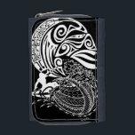 """Midnight Surf Wallet<br><div class=""""desc"""">Polynesian surf design</div>"""