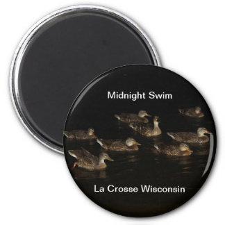 Midnight Swim 2 Inch Round Magnet