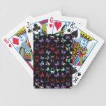 Midnight Swirl Butterfly Pattern Poker Deck