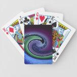 Midnight swirls and twirls deck of cards