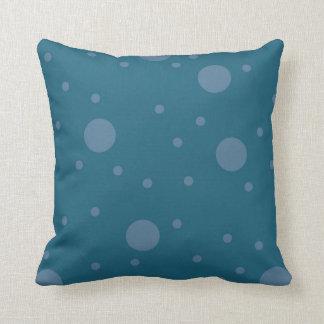 Midnight Teal Dot Pillow