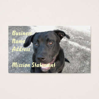 Midnight the Black Lab Smiles Business Card