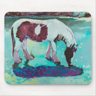 Midnight the Grazing Horse Mouse Pad