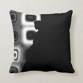 Midnight Thoughts Abstract Throw Pillow