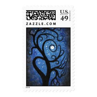 Midnight tree stamps