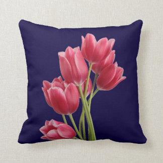 Midnight Tulips Pillow
