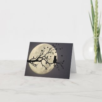 Midnight Under the Moon Note Card