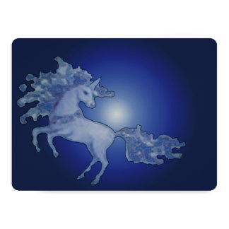 Midnight Unicorn Blank Card Invitation