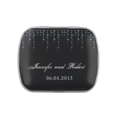 Midnight Vineyard Wedding Jelly Belly Candy Tins at Zazzle