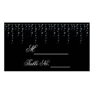 Midnight Vineyard Wedding Place Card Business Card Template