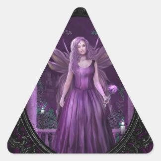 Midnight Violet Triangle Sticker