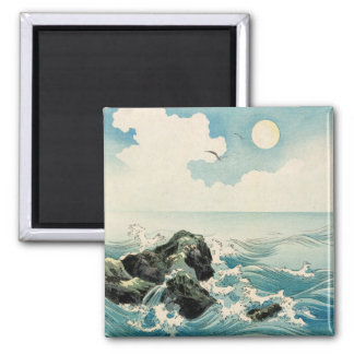 Midnight Waves 2 Inch Square Magnet