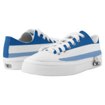 Midnight White and Light Blue Striped Lo-Top
