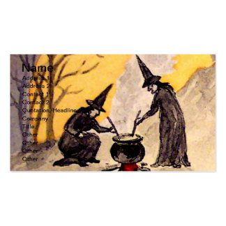 Midnight Witching(Vintage Halloween Card) Business Card