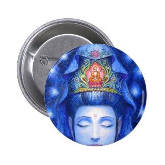 Midnight Zen Meditation Kuan Yin 2 Inch Round Button