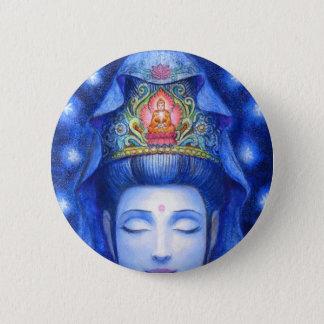 Midnight Zen Meditation Kuan Yin Pinback Button