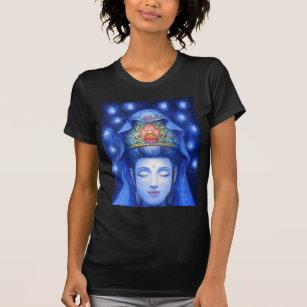 Mens T-shirt Kwan Yin Goddess of Compassion Zen Meditation Print TS1860