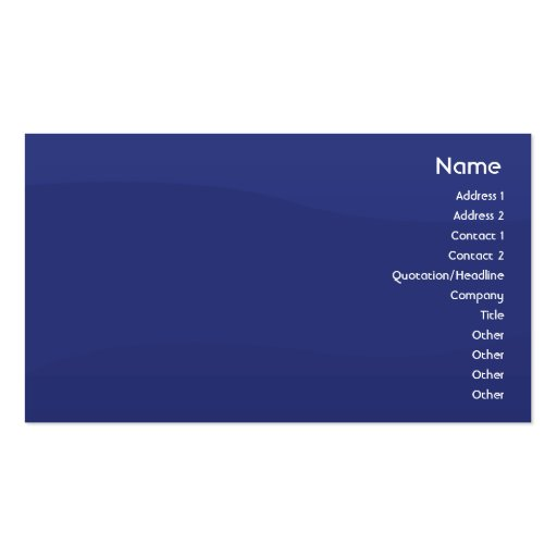 Midnightwave - Business Double-Sided Standard Business Cards (Pack Of 100)