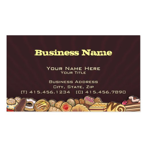 midnite snack ~ bc business card (front side)