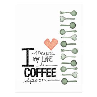 Mido mi vida en cucharitas de café postal
