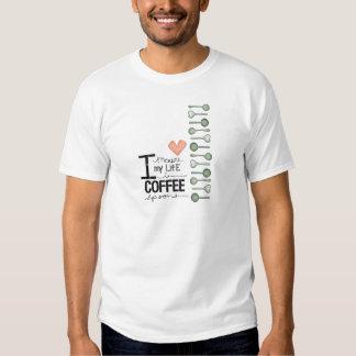 Mido mi vida en cucharitas de café remeras