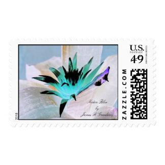 Midori Blue postage stamp