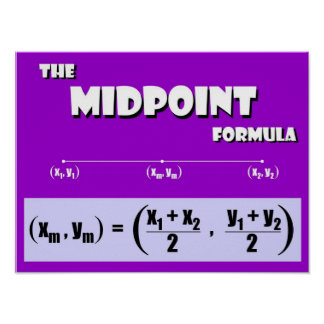 Midpoint Formula Poster