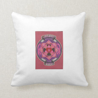 MidPyre Pink logo Throw Pillow