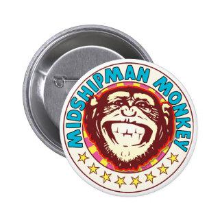 Midshipman Monkey 2 Inch Round Button