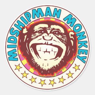 Midshipman Monkey Classic Round Sticker