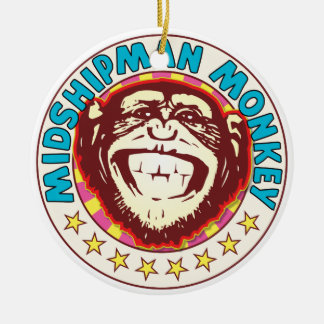 Midshipman Monkey Double-Sided Ceramic Round Christmas Ornament