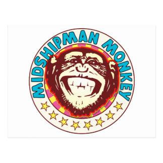 Midshipman Monkey Postcard