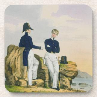 Midshipmen, plate 3 from 'Costume of the Royal Nav Beverage Coaster