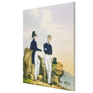 Midshipmen, plate 3 from 'Costume of the Royal Nav Canvas Print