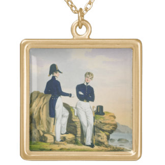 Midshipmen, plate 3 from 'Costume of the Royal Nav Gold Plated Necklace