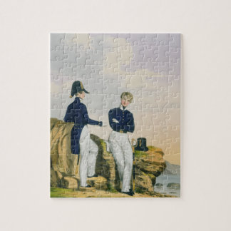 Midshipmen, plate 3 from 'Costume of the Royal Nav Jigsaw Puzzle
