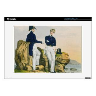 Midshipmen, plate 3 from 'Costume of the Royal Nav Laptop Skins
