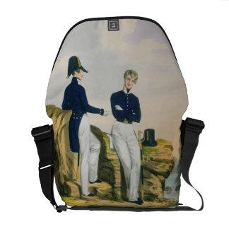 Midshipmen, plate 3 from 'Costume of the Royal Nav Messenger Bags