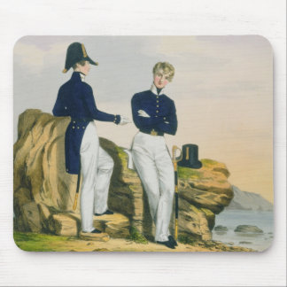Midshipmen, plate 3 from 'Costume of the Royal Nav Mouse Pad