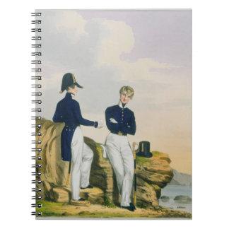 Midshipmen, plate 3 from 'Costume of the Royal Nav Notebook