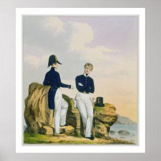 Midshipmen, plate 3 from 'Costume of the Royal Nav Poster